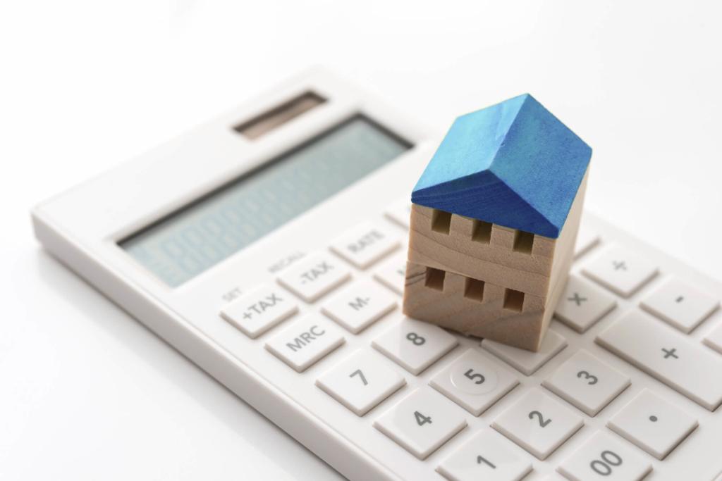 グリーン住宅ポイント制度で建てた家と電卓