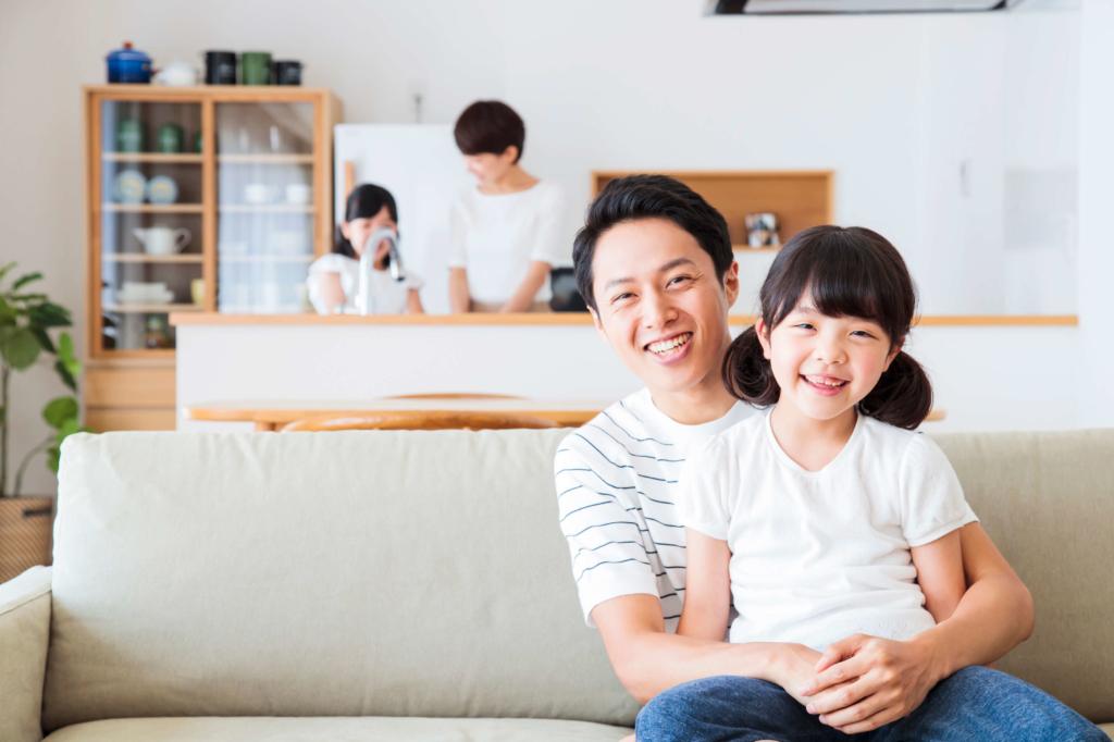 グリーン住宅ポイント制度で家を新築した家族