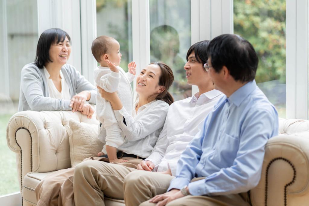 グリーン住宅ポイント制度で笑顔の家族